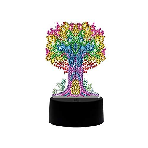 Árbol DIY LED Diamante Pintura Luz Nocturna Caricatura Religion Forma Especial Diamante Bordado Cruz Punto Decoración Principal