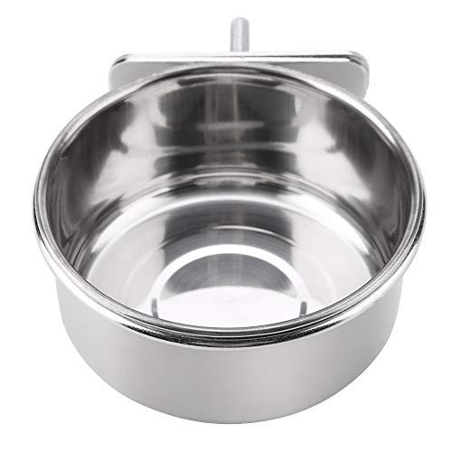 EBTOOLS ペットボウル バード食器 鳥 ステンレス製 水飲み 小鳥用食器 オウムの水のトレイセット 猫 犬 うさぎ 鳥 餌入れ 固定(S)
