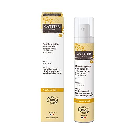 Cattier Feuchtigkeitsspendende Tagescreme, für trockene Haut, Naturkosmetik, 50 ml