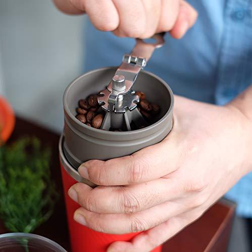 カフラーノ カフラーノ Cafflano コーヒーメーカー ハンドドリップ コーヒーミル 粗細調節可 ペーパーレスフィルター マグカップ付 ブラック 9×9×19.5cm オールインワン CK-BK