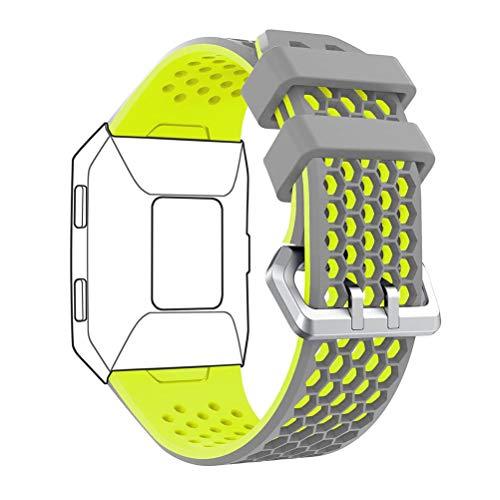 DD Band Kompatibel mit Fitbit Ionic Armband, Weiche Silikon Einstellbare Uhrband für Fitbit Ionic Ersatzarmband