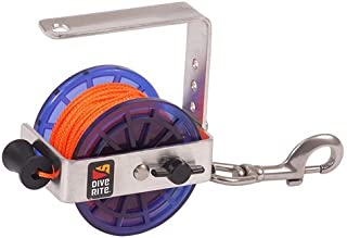 Dive Rite Cavern/Safety Reel 140ft #24 Line with Medium Stainless Steel Bolt Snap For Diving