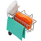 3-in-1 Sponge Holder for Kitchen Sink, Sponge Holder + Brush Holder +...