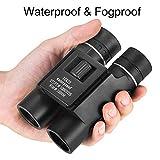 OMZER 12X25 Waterproof Fogproof Compact Binoculars With Low Light Night Vision, Easy Focus