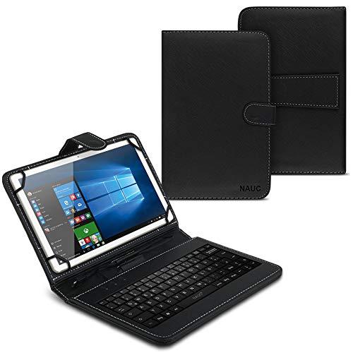 UC-Express Hülle Tasche Keyboard Hülle für Lenovo Tab M10 TB-X605L 10.1 Zoll Tastatur QWERTZ Standfunktion USB
