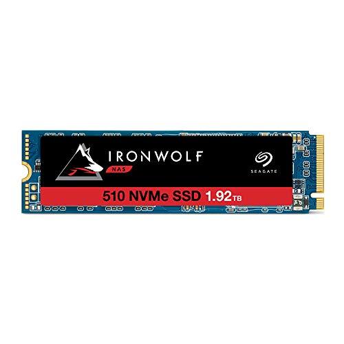 Seagate IronWolf 510 NAS 1,92 To, SSD interne, M.2 PCIe pour stockage en réseau NAS des systèmes RAID multibaies, services de récupération des données de 2 ans, Ouverture facile ZA1920NM30001