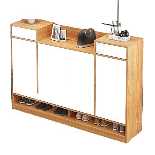 QINJIE Estante Simple, hogar económico Simple Moderno Moderno de Almacenamiento Multi-Capa de Almacenamiento a Prueba de Polvo,Beige,55.1 Inches
