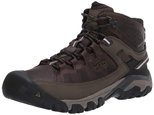 KEEN Men's Targhee III Mid Height Waterproof Hiking Boot, Canteen/Mulch, 10 D (Medium) US