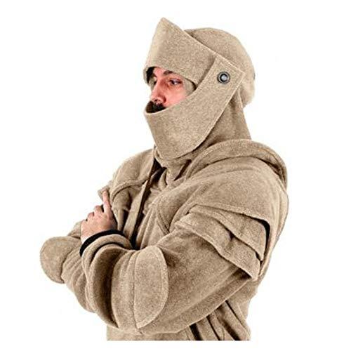 Tanwenling33 Rüstung Ritter Hoodie Herren Erwachsene Mittelalterlicher Ritter Sweatshirt Knight Hoodie Armor Halloween Cosplay Kostüm