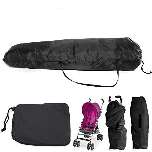 Shoze Pram Travel Bag Buggy Umbrella Stroller Pushchair Cover Storage Bag Waterproof Portable Large Baby (Black)