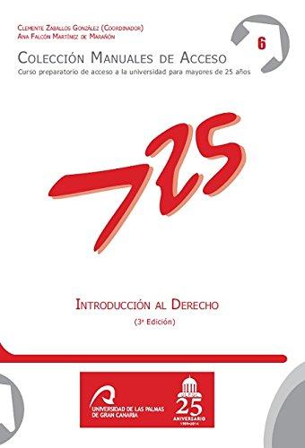 Introducción al Derecho (3ª edición) (Manuales de Acceso a Mayores de 25 años: Curso Preparatorio de acceso a la universidad)