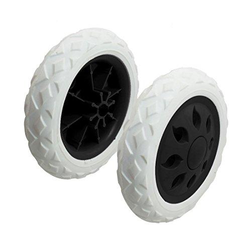 SODIAL(R) 2 pezzi di rotella calda carrello rottera' viaggiatori cartwheels 15,8 x 3,4 cm - Bianco e Nero