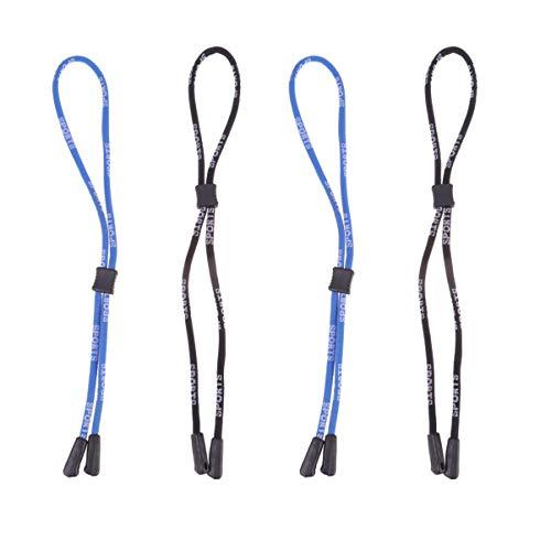 SUPVOX Soporte para Gafas Correa Anteojos Cuerda Cuello Cordón Antideslizante de Seguridad para Patinar Kayak Ciclismo Correr Surf Deportes 4 Piezas