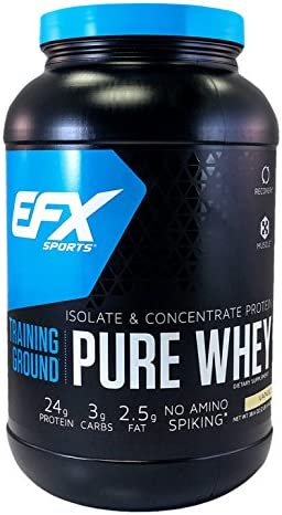 EFX Sports Training Ground Pure Whey Powder Vanilla 38 4 Ounce product image