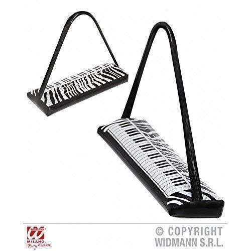 Lively Moments Aufblasbares Keybord/Musikinstrument Zum Umhängen ca. 57 cm/80er 90er Jahre