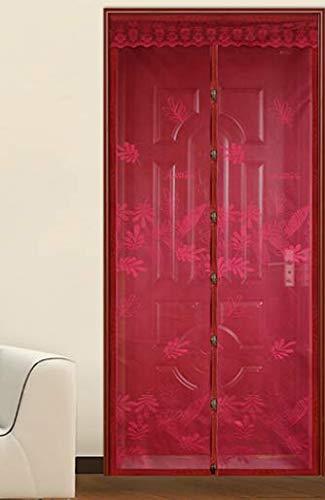 Sommer Anti-Moskito Tür Vorhang Sommer Verschlüsselung Stoff Jacquard Magnetbildschirm Bildschirm Bildschirm ohne Magnetstreifen Verschlüsselung Mesh Bildschirm Tür A2 B80xH210 tragen