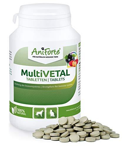 AniForte MultiVitamin MultiVETAL 250 Tablets: Natural Vitamin Supplement for Dogs & Cats - Contains 13 Vitamins & 11 Minerals, Including Vitamin B Complex, B1, B2,B5, B6, B12, A, C, D, E, K, Omega 3