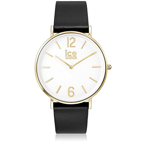 Ice-Watch - CITY tanner Black Gold - Men's (Unisex) wristwatch with leather strap - 001516 (Medium)