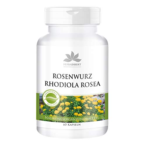Extracto de Rhodiola rosea 500mg – 3% de rosavina – 60 cápsulas