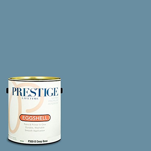 Prestige Paints P300-D-SW6515 Interior Paint and Primer in One, 1-Gallon, Eggshell, Comparable Match of Sherwin Williams Leisure Blue, 1 Gallon, SW54-Leisure