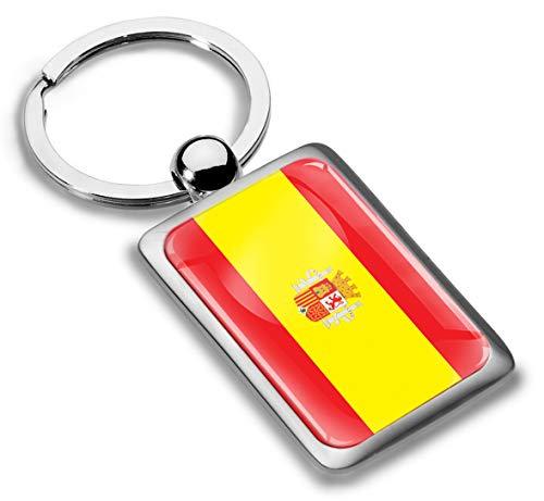 3D Metaal Spanje Spaanse Vlag Sleutelhanger Sleutelhanger Accessoires Mannen Vrouwen Sleutelhanger Gift KK 215
