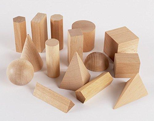 edx education 52177 Figuras geométricas de madera, 15 unidades
