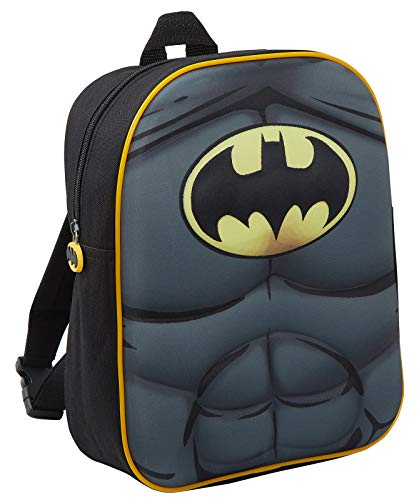 Mochila de Batman 3D para niños con Capa Plegable DC Comics Novelty Dress Up, Negro (Negro) - LBAMZMPN1164