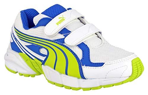 Puma Axis Mesh V2 Velcro Boys Trainers Li/blu Size 12