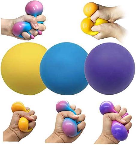 Stress Balls for Adults and Kids 3pk Squishy Stress Ball Fidget Toys Anti Stress Sensory Ball product image