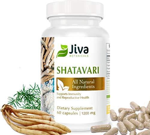 Shatavari Capsules - 1200 mg – Supports Hormone Balance for Women. Breastfeeding Supplement, Lactation Supplement - by Jiva Botanicals