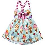 2019 Baby Girl Cream Ice Cream Print Summer...