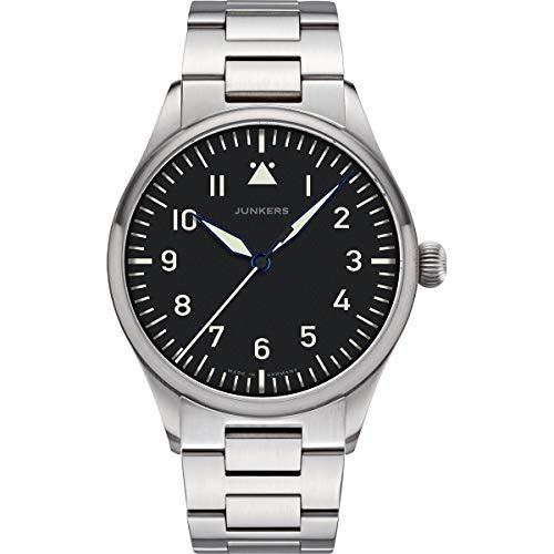 Junkers Baumuster Analog Quarz Uhr Edelstahlarmband Saphirglas schwarz 9.20.01.02.M