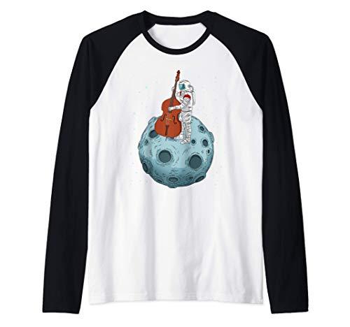 Contrabajo de regalo Contrabajo de música de jazz Contrabajo Camiseta Manga Raglan