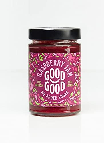 Good Good Sweet Raspberry Jam - Keto Friendly - No Added Sugar Raspberry - Keto - Vegan - Gluten Free - Diabetic (Raspberry), purple, 12 ounce (pack of 1)