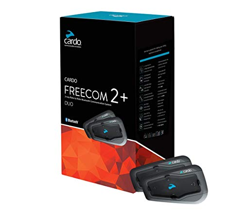 SCALARIDER CARDFREEC2+DUO KIT MAIN LIBRE MOTO BLUETOOH, Noir