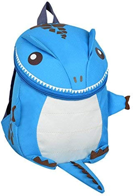 JINQD Home Persönlichkeit Rucksäcke Kreative Kreative Kreative Cartoon Dinosaurier Form Frühen Kindheit Schultasche Kinderrucksack (Farbe   Blau) B07L1V1R58  Geeignet für Farbe 662f82