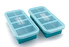 Freeze food in perfect portions - Great for bone broth servings, recipes, meal prep, and portion-controlled meals Compartments have four fill lines: ½ cup, 1 cup, 125 mL, 250 mL - Each tray makes four 1 cup or 250 mL cubes Clear tight fitting lid kee...