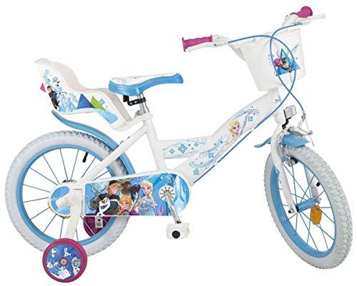 Unbekannt 16 Zoll Kinderfahrrad Mädchenfahrrad Kinder Fahrrad Rad Bike Disney ELSA Frozen die Eiskönigin Weiß New