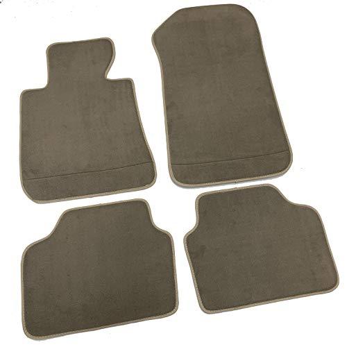 MTC - Alfombrillas Serie 3 E90-E91 2005-2011 de terciopelo Premium Beige con Fix Velcro