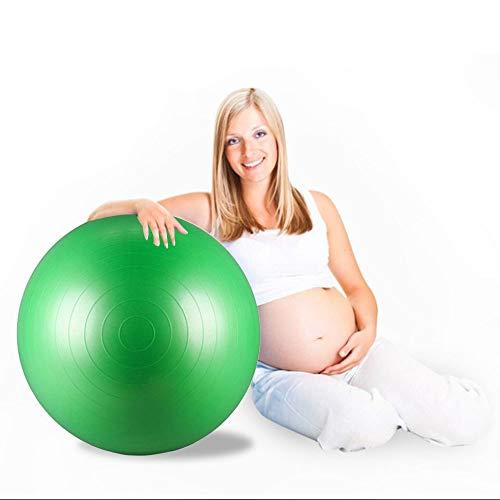 XGYUII Yoga-Ball extra Dicke Übung Gymnastikball Yoga-Geburt Schweizer Ball ausgezeichnet für Schwangere Frau Geburt Gewichtsverlust Übung grün,65cm