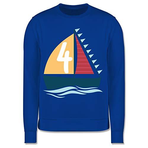 Geburtstag Kind - Seefahrer Schiff Geburtstag 4-116 (5/6 Jahre) - Royalblau - 4. Geburtstag - JH030K - Kinder Pullover