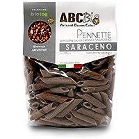Carioni Food & Health Pasta Italiana de Trigo sarraceno ecológico, Pennette sin Gluten - 250 gr (Paquete de 6 Piezas)
