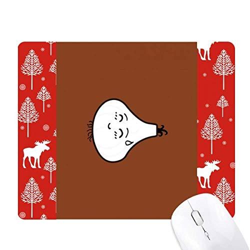 Knoblauch-Mauspad Lovely Little Emoji Weihnachtsbaum Wald Hirsch Elch