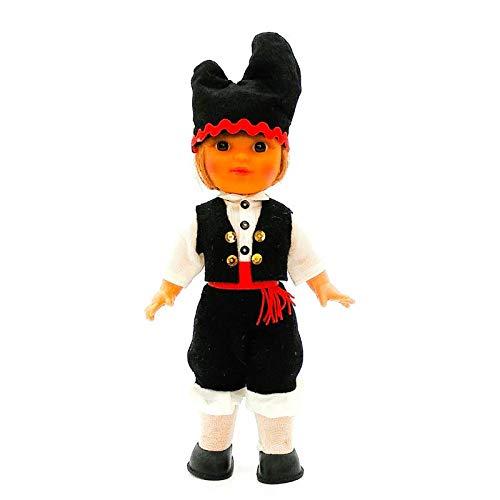 Folk Artesanía Muñeco Regional colección 25 cm Vestido típico Gallego Galicia España.