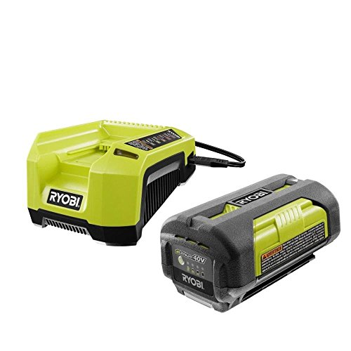 Ryobi OP4026 40-Volt Lithium-ion Battery and OP400A 40 Volt Lithium-ion Charger (Renewed)