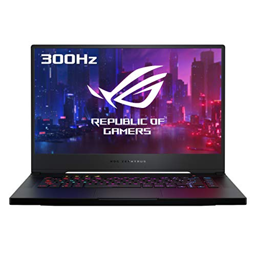 "ASUS ROG Zephyrus S15 GX502LXS-HF012T - Portátil Gaming de 15.6"" FullHD 300Hz (i7-10750H, 32GB RAM, 1TB SSD, GEForce RTX2080 Super 8GB GDDR6, Windows 10 Home) Negro Cepillado - Teclado QWERTY español"