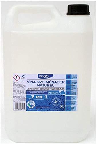 OHMSEN VINAIGRE Blanc MENAGER 20 Degrés - Fermentation Biologique Naturelle - BIDON DE 5 litres