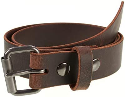 Men s Genuine Buffalo Leather Belt 1 1 2 width Handmade in the USA By Amish Crazy Horse 36 Pants product image
