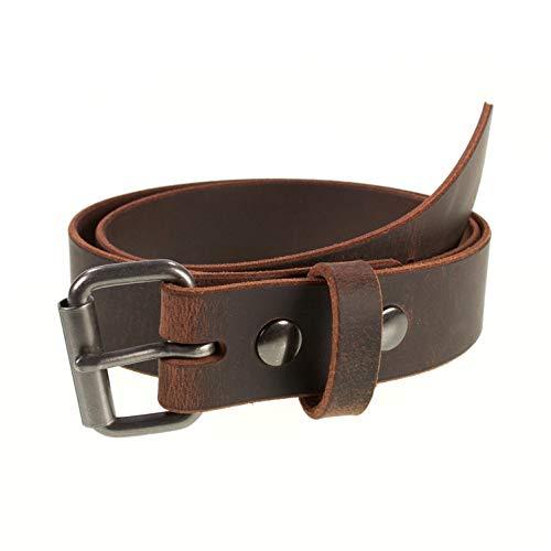Men's Genuine Buffalo Leather Belt, 1 1/2' width,...