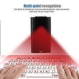 ZUEN Wireless Bluetooth Laser Virtuelle Projection Keyboard Weinlese-Runde Tastaturbelegung Mit Freisprechfunktion Geeignet Für Smart Phone...